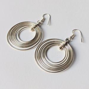 Jewelry - Silver Tone Multi Hoop Earrings